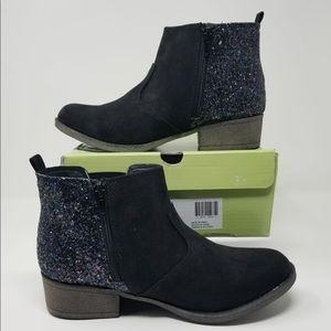 Sarah-Jayne Black booties with Glitter